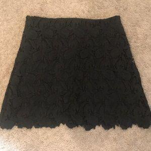 Express black lace skirt side zip, size 6